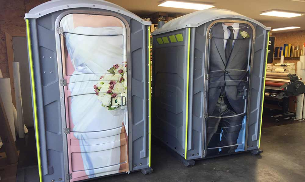Wedding Porta Potties Mini Bridal