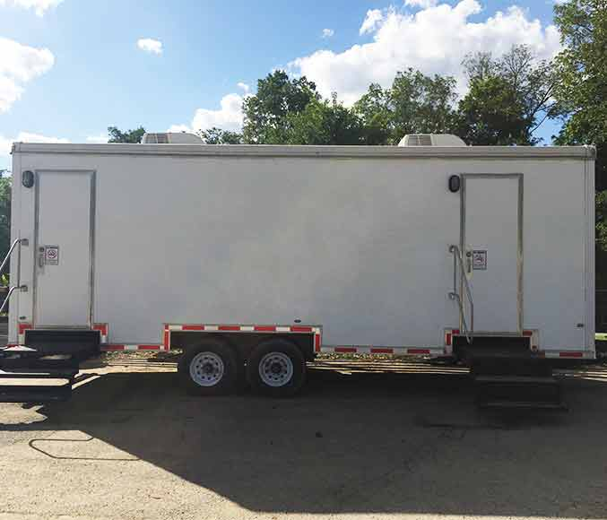 Luxury Restroom Trailers For Rent Louisville Ky A1 Porta Potty