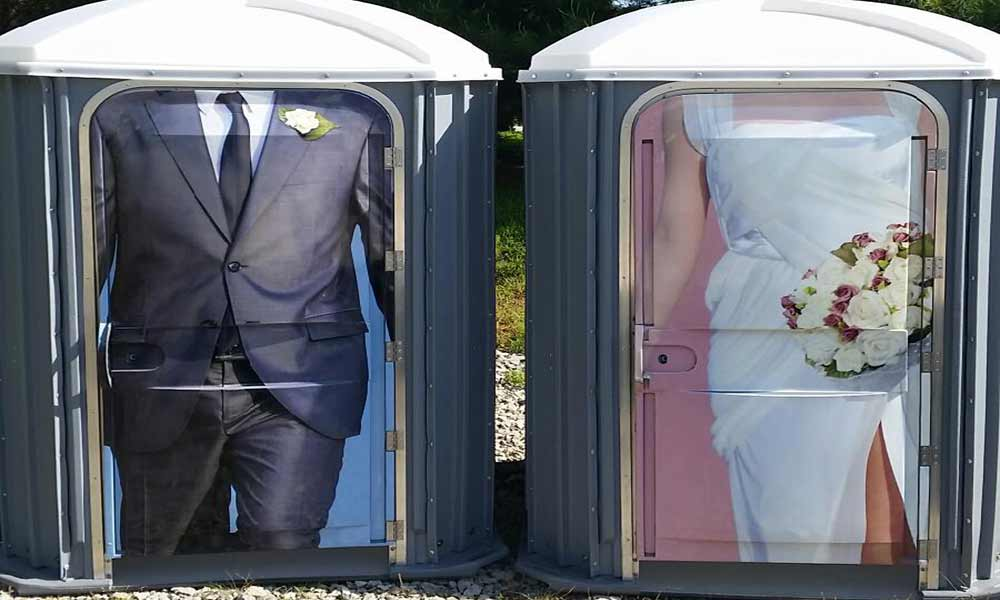 Wedding porta potty rental louisville ky and southern indiana for Porta johns for rent